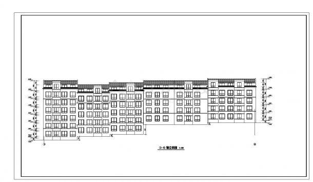 某市多层转角楼住宅楼设计图CAD详图-图一