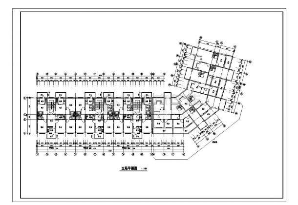 某市多层转角楼住宅楼设计图CAD详图-图二