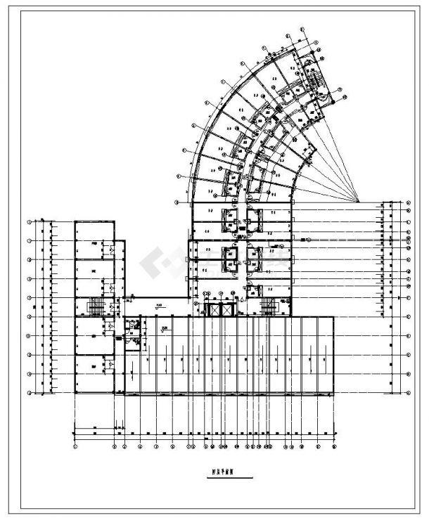 某城市酒店建筑工程布置全套设计图CAD详图-图二