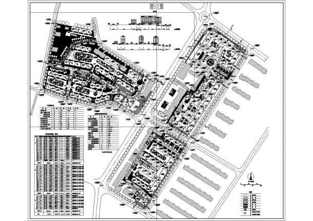 长春市碧水湾小区总平面规划设计CAD图纸(占地6.3公顷)-图一