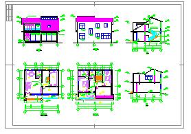 某B型两层别墅建筑设计方案施工图-图二