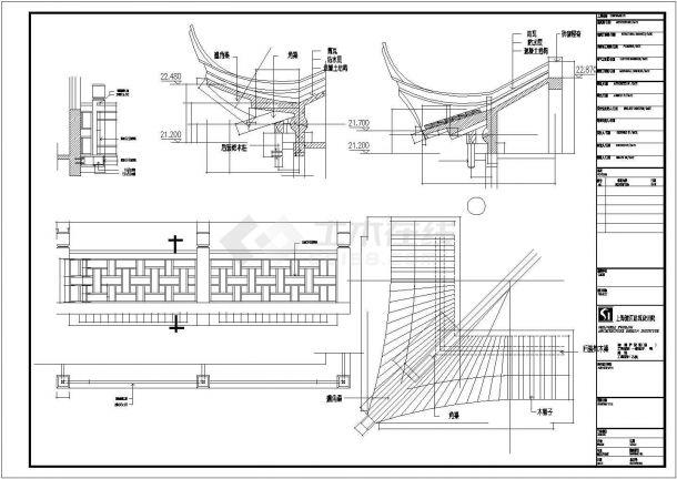 天山茶城商铺全套装饰施工设计cad图(含屋顶平面图)-图一