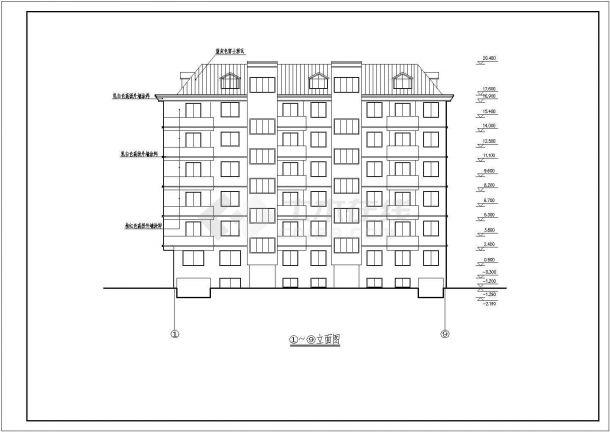 【杭州】某多层住宅楼全套建施设计cad图(含各层平面图)-图二