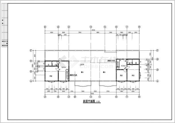 蝴蝶园小区多层住宅楼全套建筑设计施工cad图-图一