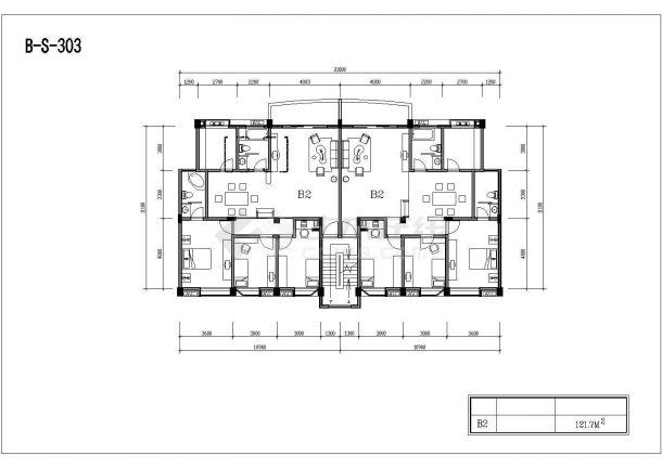 多层砖混户型公寓楼全套施工设计cad图纸(含标准层平面图)-图一