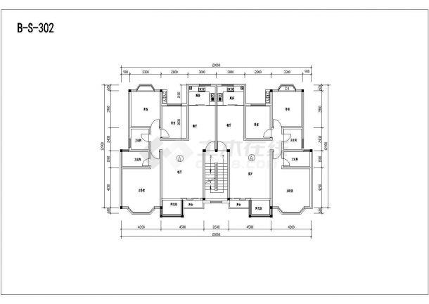 多层砖混户型公寓楼全套施工设计cad图纸(含标准层平面图)-图二