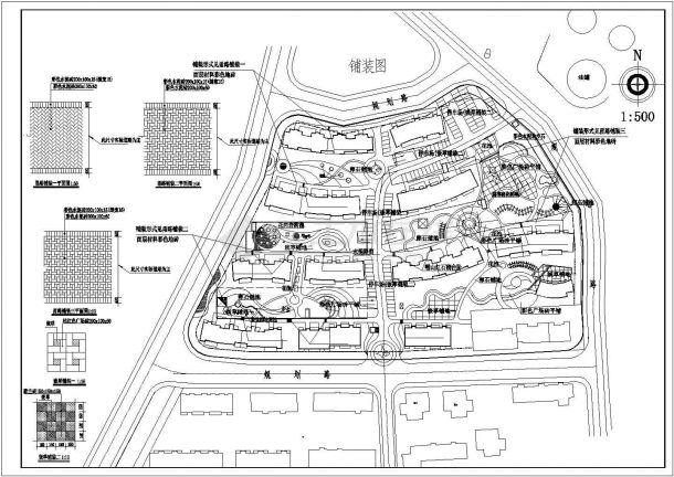 某高档多层住宅小区规划设计cad总平面施工图-图一