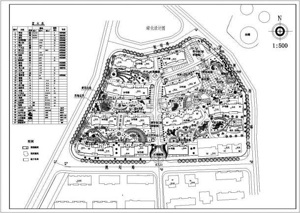 某高档多层住宅小区规划设计cad总平面施工图-图二