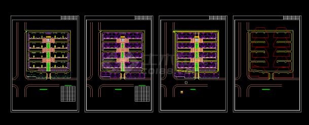 沁阳住宅小区规划设计cad总平面方案图(含设计说明,带效果图)-图二