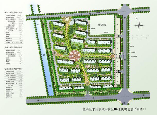 上海某建筑物圆林规划设计jpg施工总平面图(含效果图)-图二