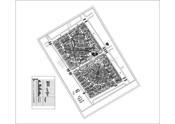 某高品质多层住宅小区规划设计cad总平面施工图(含规划经济技术指标)-图一