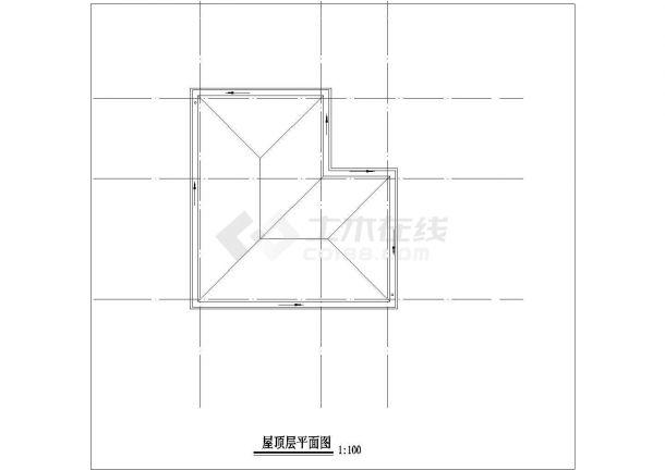 北京市丰台区某实验小学21平米门卫水泵房建筑设计CAD图纸-图一