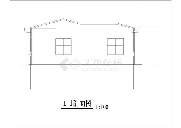 北京市丰台区某实验小学21平米门卫水泵房建筑设计CAD图纸-图二