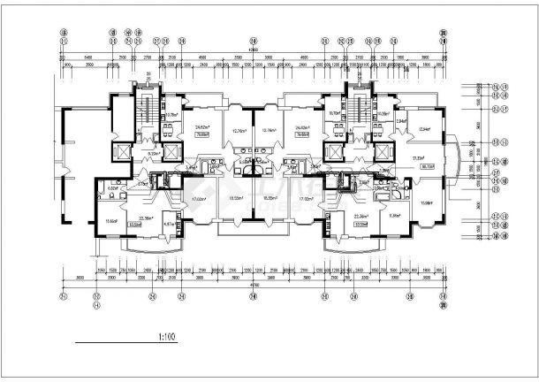 高层住宅楼采暖通风防烟cad平面施工图(含设计说明,设备表)-图二