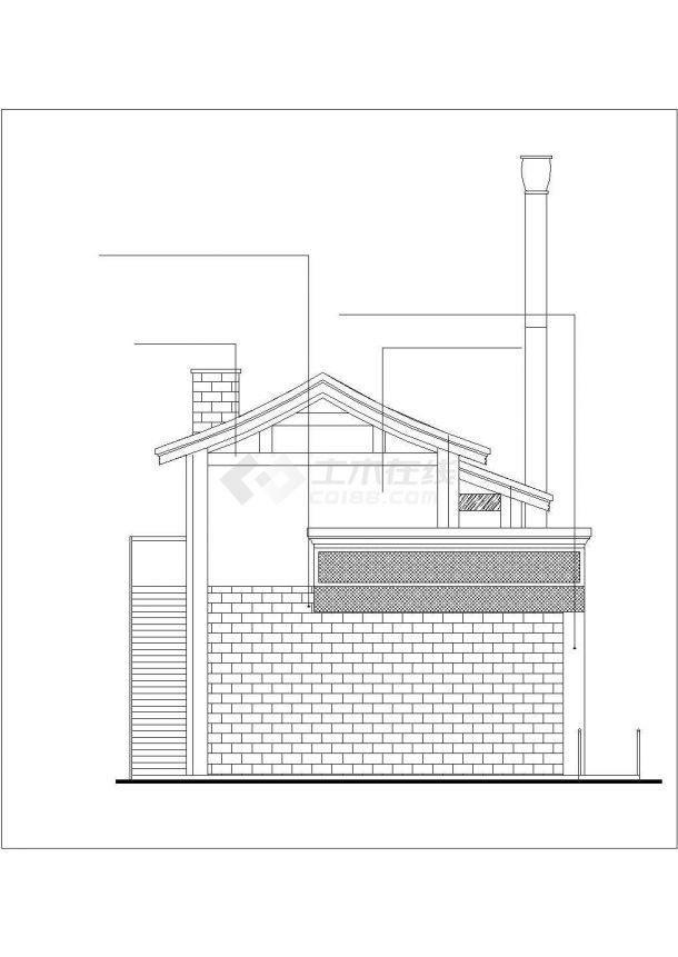 扬州市某仿古街337平米2层框架结构商业楼建筑设计CAD图纸-图一