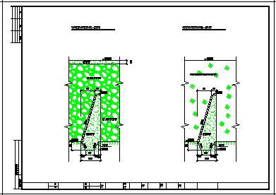 某堰坝水电站施工cad建筑设计图纸-图一