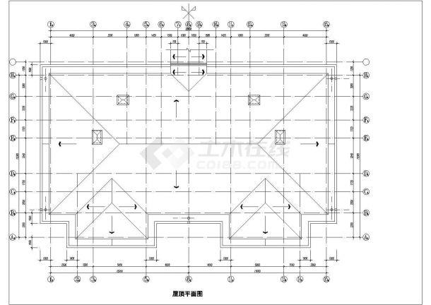 酒店式多层公寓楼全套建筑施工设计cad图(含屋顶平面图)-图二