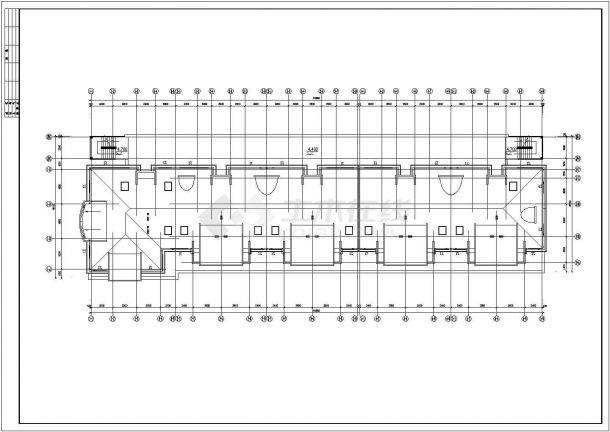 天海花园小区高档住宅楼全套建筑施工设计cad图纸-图一