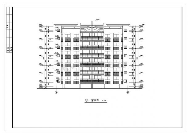 某市区复式住宅楼布置CAD设计图-图一