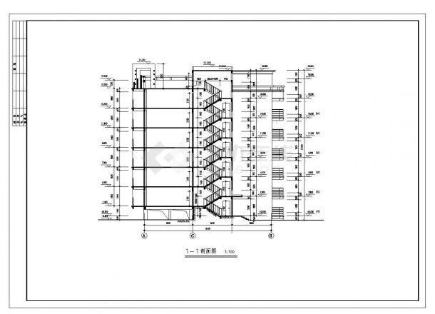 某市区复式住宅楼布置CAD设计图-图二