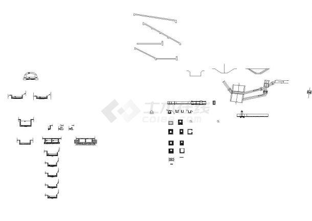 某城市水库除险加固溢洪道工程设计施工CAD图纸-图二