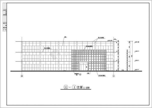 宜宾市南岸新区某三层框架结构住宅楼设计cad全套建筑施工图(含设计说明及总平面图)-图二