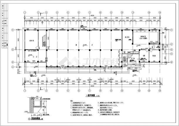 轮班宿舍楼建筑设计方案图-图一