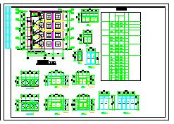 某地三层半实用农村住宅建筑设计施工图-图二