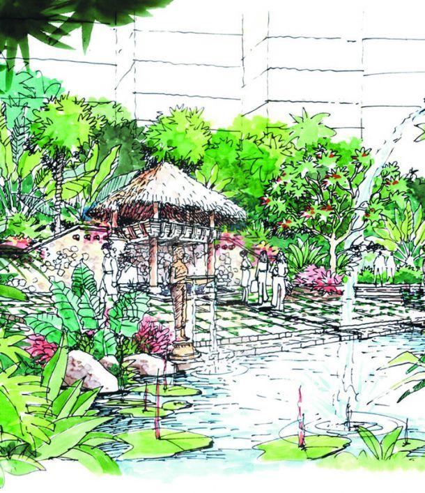 广州南国奥林匹克花园景观-图一