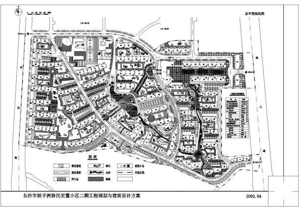 153760平米小区规划设计施工图-图一