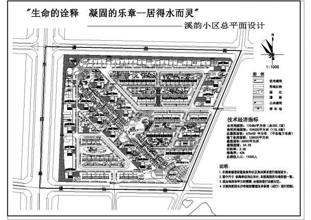 170486平方米小区规划设计图-图一