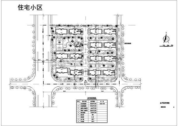 23508平方米小区规划设计图-图一