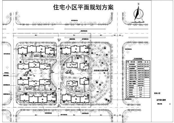 31937平方米小区规划设计图-图一