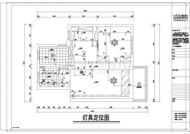 五星新村住宅楼全套施工设计acad图纸(含效果图)-图二