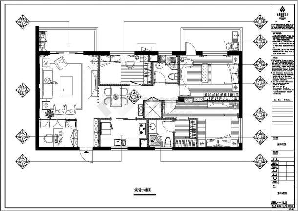 融侨花园小区精品住宅楼全套施工设计cad图纸-图一