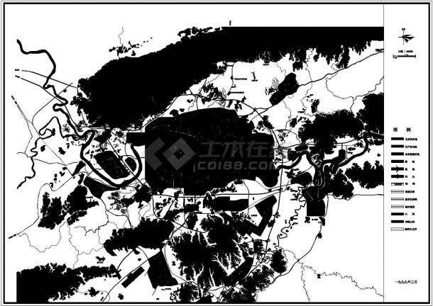 某城市新开发地块大型综合居住区景观规划设计cad总平面施工图-图一