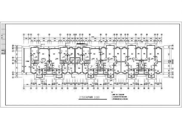 六层三单元5583平米两种户型节能住宅建筑方案图-图一