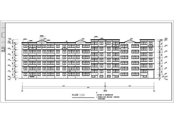六层三单元5583平米两种户型节能住宅建筑方案图-图二