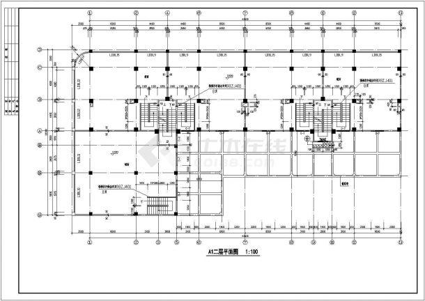 7层底商住宅全套建筑设计施工图-图一