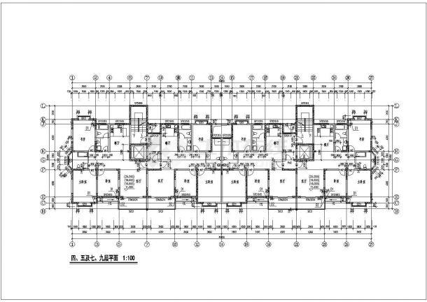 高层现代公寓建筑设计施工图-图一