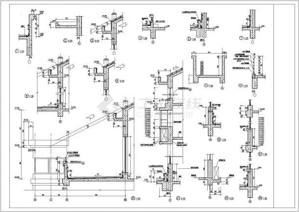 高层现代公寓建筑设计施工图-图二