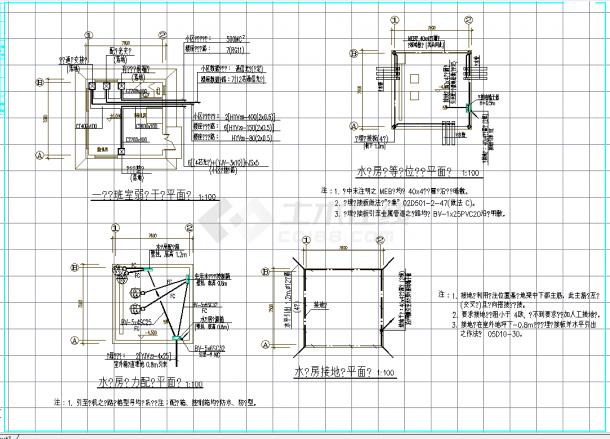 某地某小区电气综合施工外网外线全套cad图纸-图二