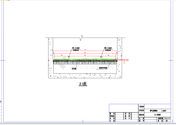 某地曝气生物滤池设计施工CAD图纸-图一