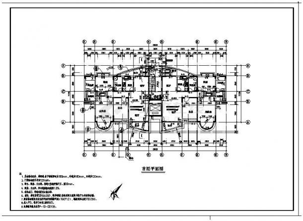 某房屋电梯住宅楼工程布置设计图CAD详图-图一