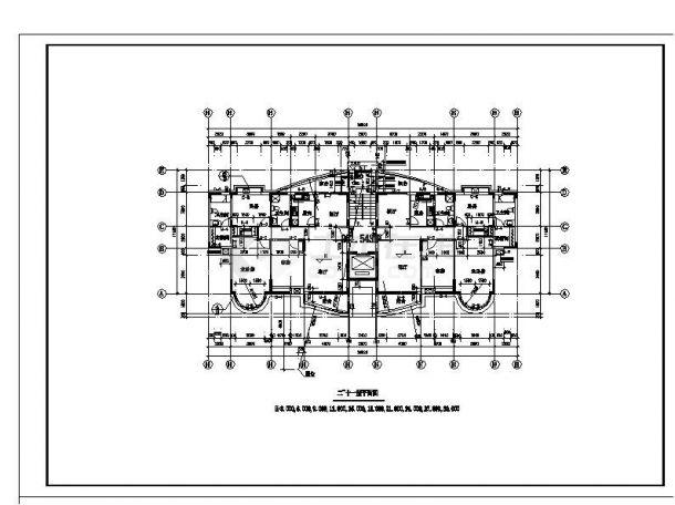 某房屋电梯住宅楼工程布置设计图CAD详图-图二