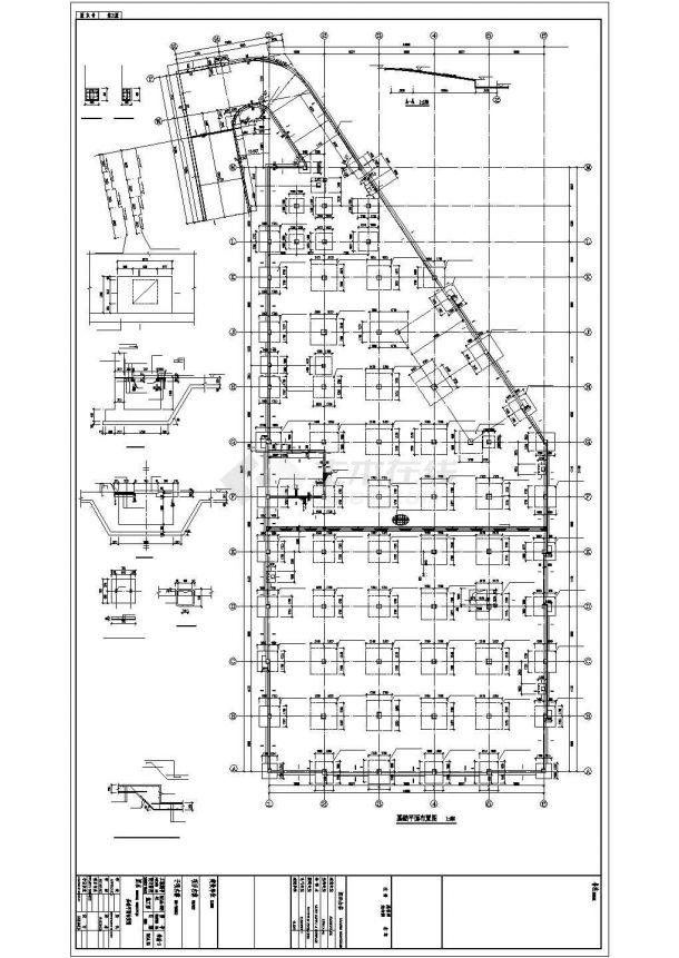 辽宁地上三层框架结构农贸市场结构设计施工图-图二