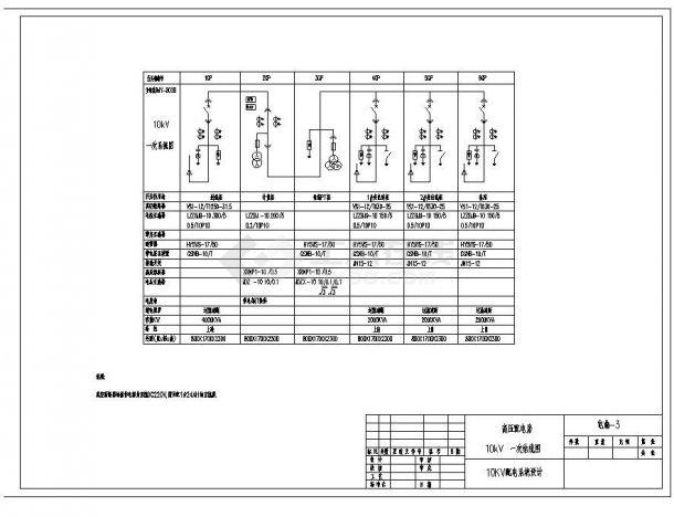 某城市配电系统结构布置CAD设计图-图二