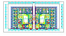 [江苏]高层教育办公建筑空调通风防排烟系统设计施工图纸(机房设计)-图一