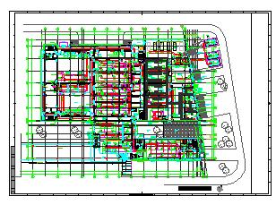 [上海]多层办公建筑空调通风及防排烟系统设计施工图纸(大院出品人防设计)-图一