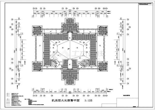 某酒店火灾自动报警系统设计施工CAD图-图二
